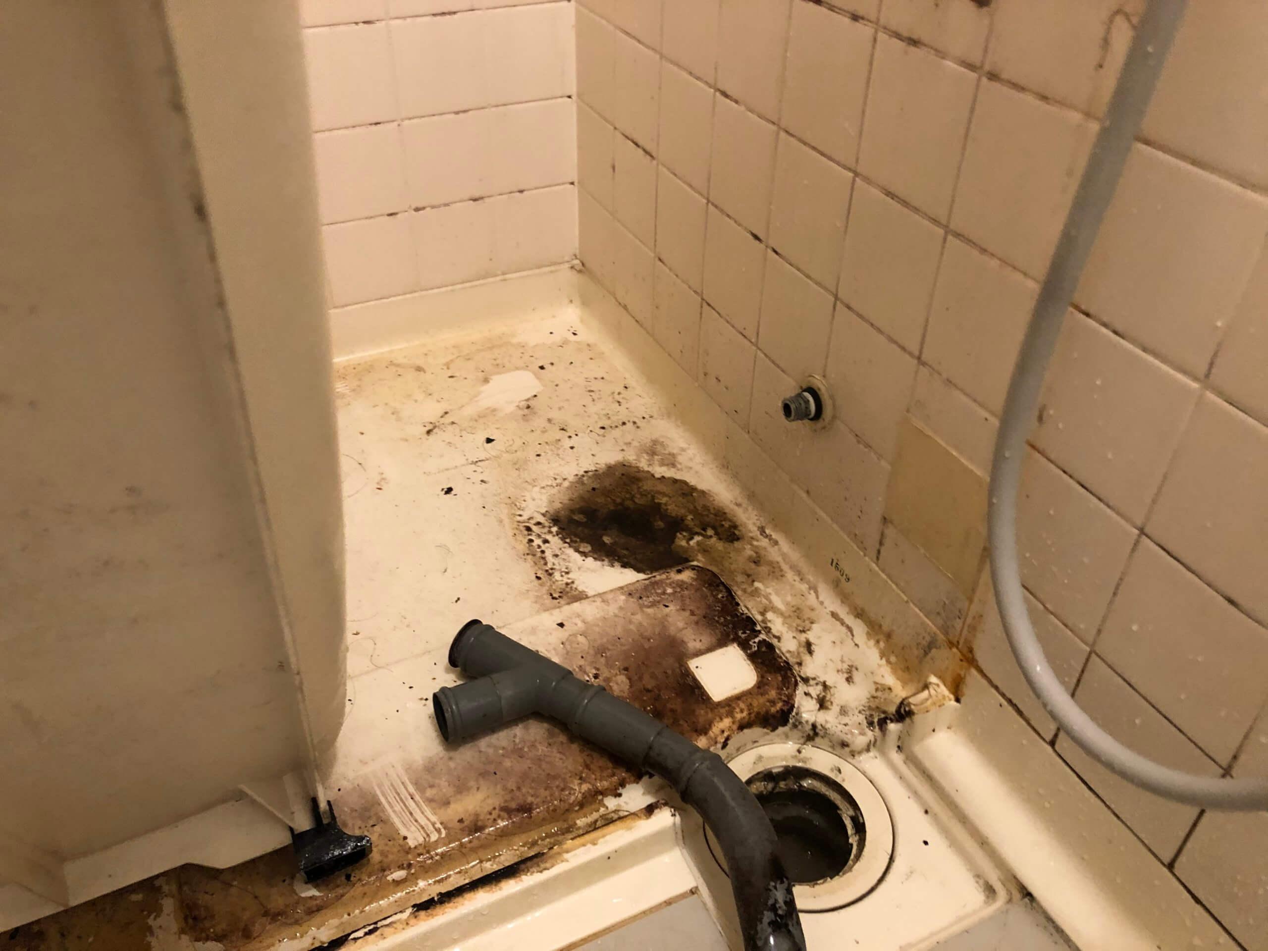 浴槽の裏側