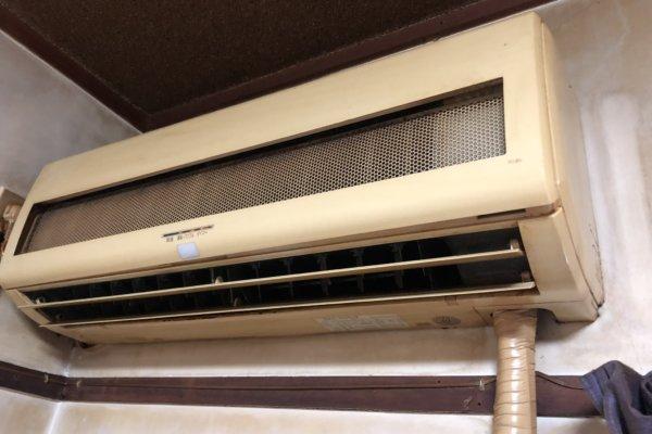 懐かしいエアコンのエアコンクリーニング 佐賀市内にて