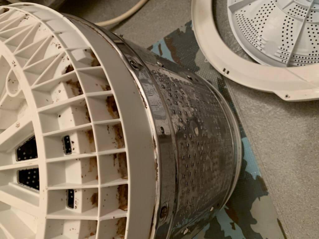 洗濯機の分解掃除
