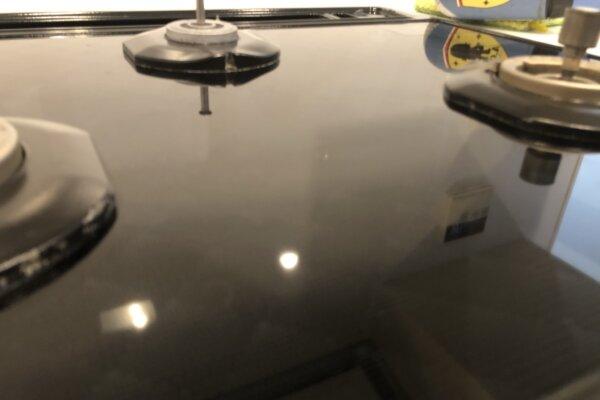 ガスコンロのガラストップをガラスコーティング