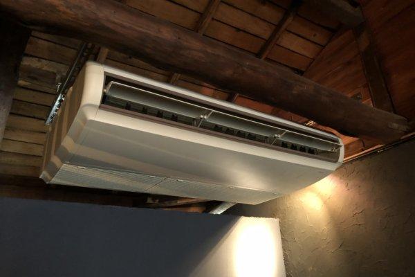 天吊りエアコン洗浄
