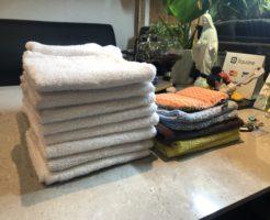ハウスクリーニングで使う道具は毎日洗濯除菌しています