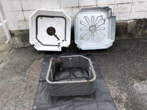 業務用エアコンの熱交換器分解