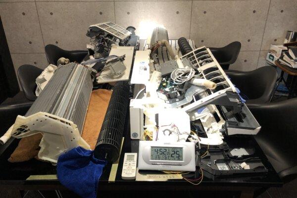 持ち込まれたエアコンを分解洗浄(MSZ-ZW635S)