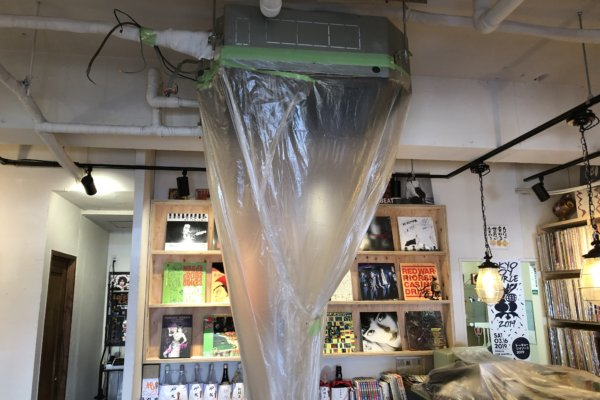 福岡のカフェバー【夢のちまた】エアコン洗浄