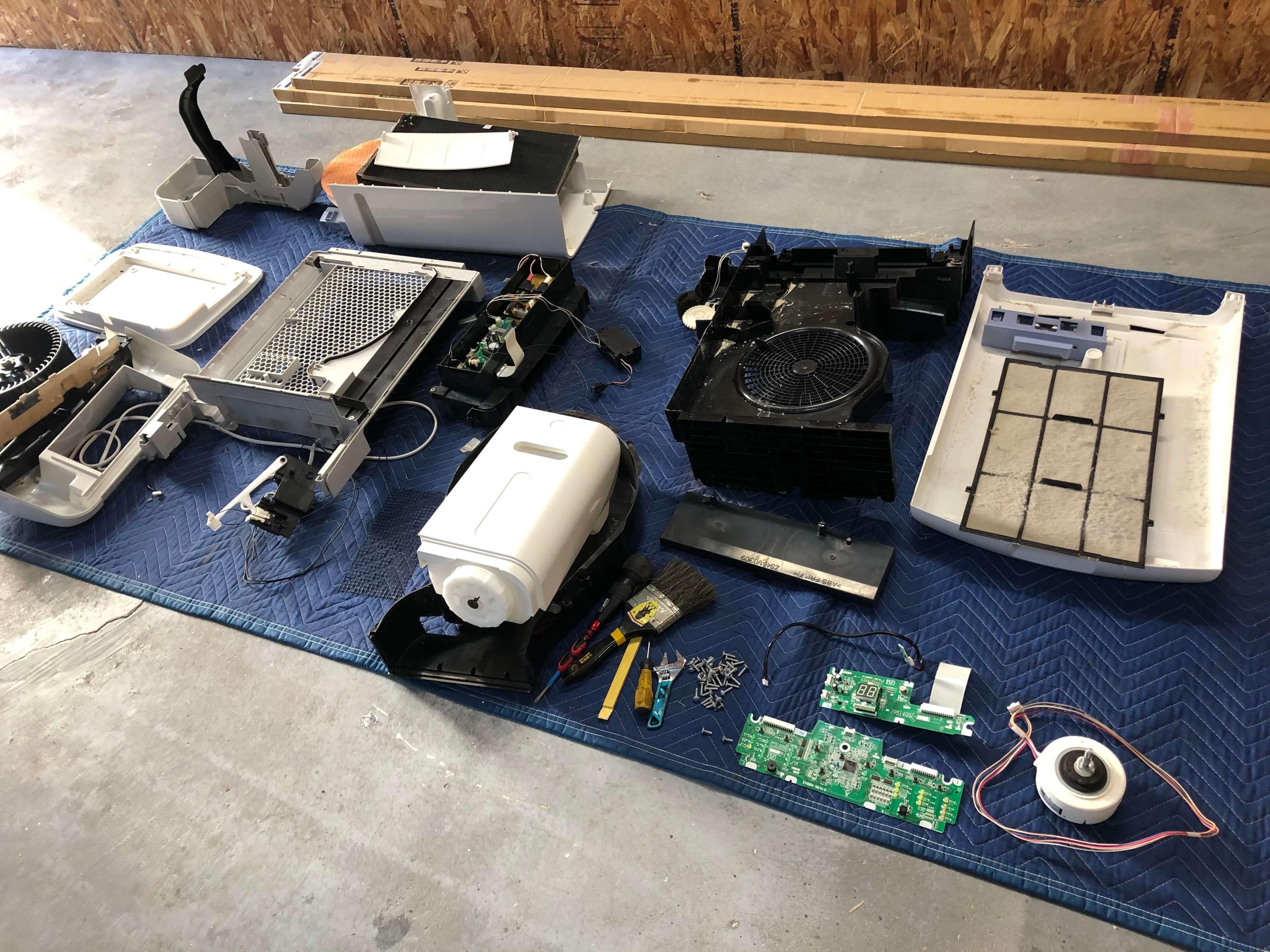 ダイキンの空気清浄機(TCK70P-W)分解掃除 | 福岡のハウス ...