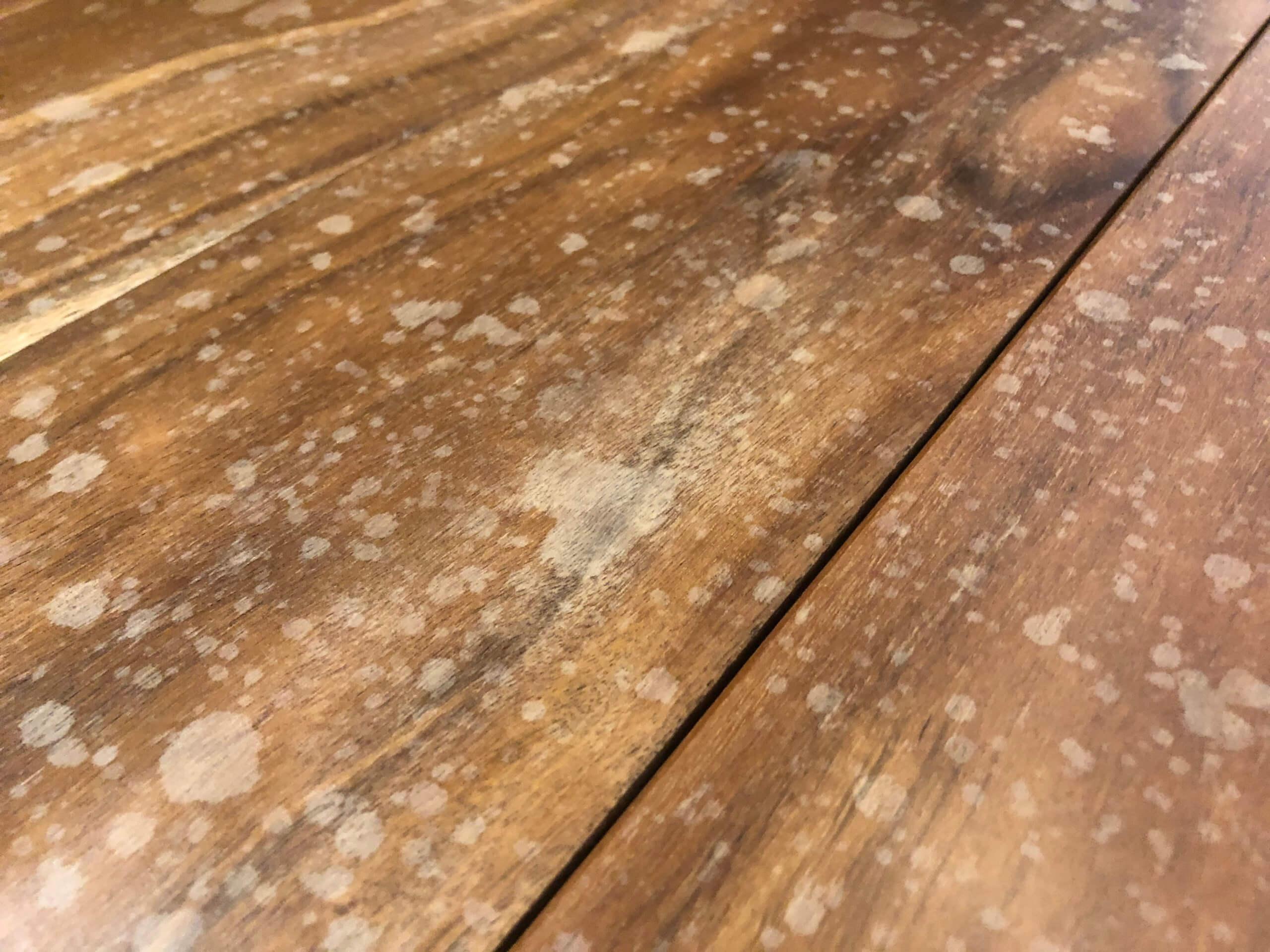 無垢のフローリングのシミ除去   福岡のハウスクリーニング専門店 エーシーサーブ