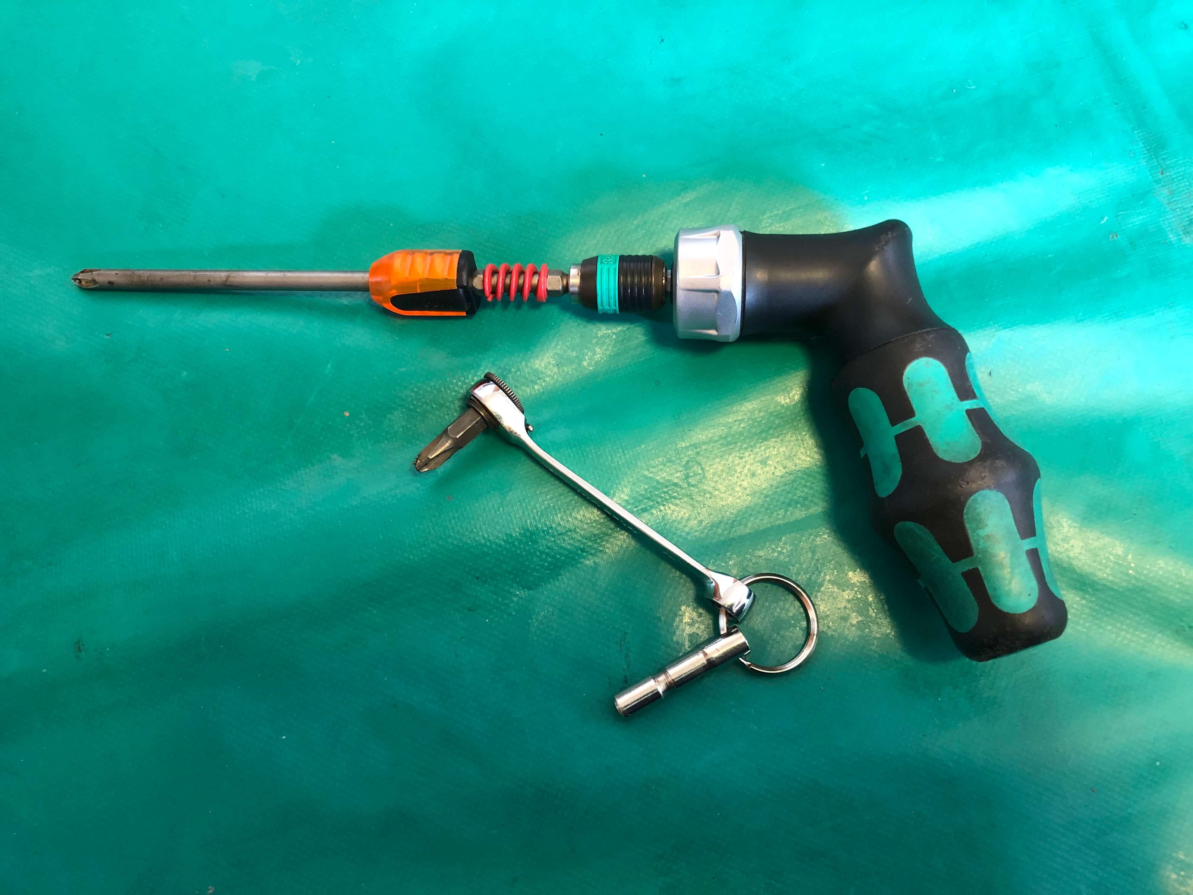 エアコンクリーニングで使う道具